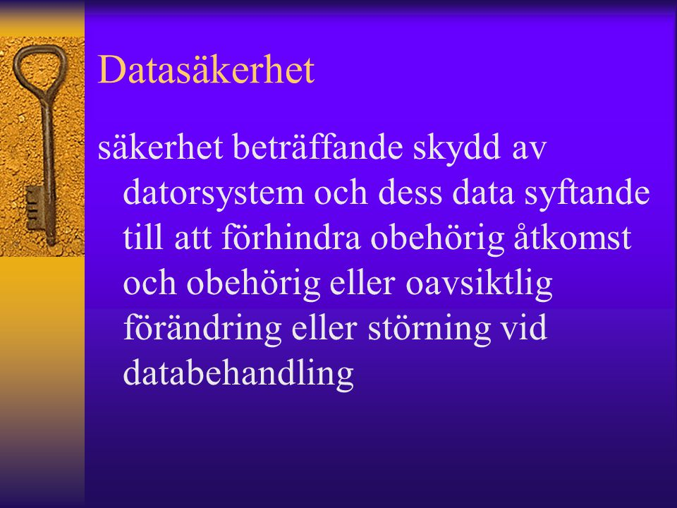 Datasäkerhet