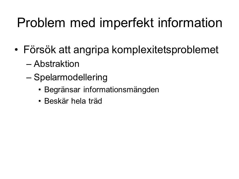 Problem med imperfekt information