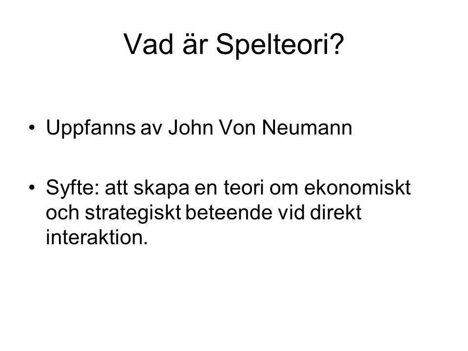 Vad är Spelteori Uppfanns av John Von Neumann