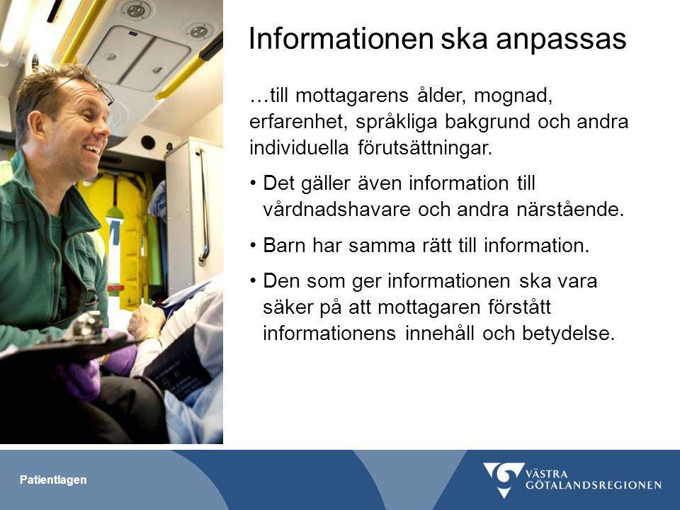 Informationen ska anpassas
