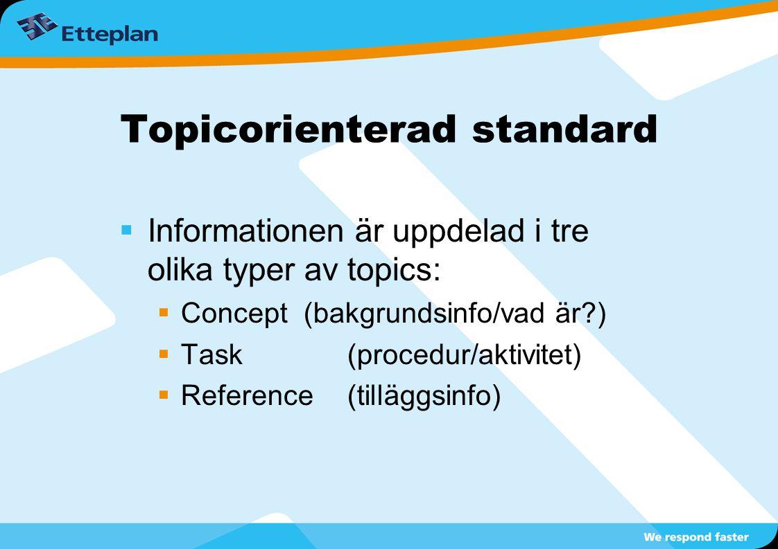 Topicorienterad standard