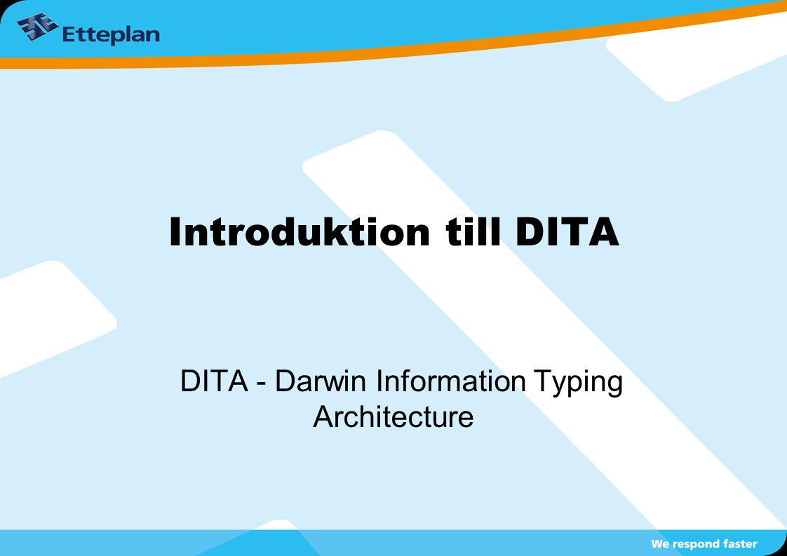 Introduktion till DITA