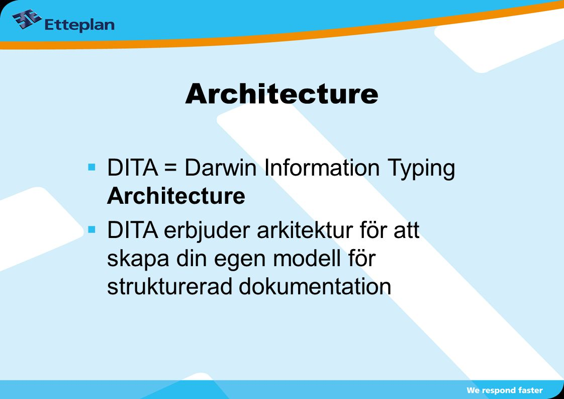Architecture DITA = Darwin Information Typing Architecture