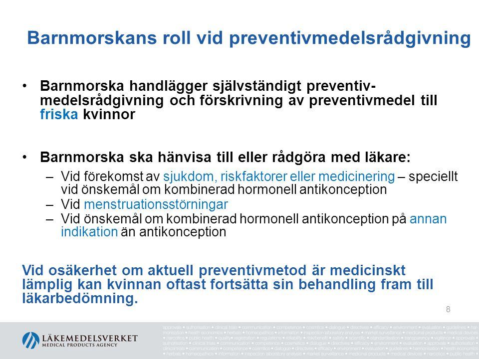 Barnmorskans roll vid preventivmedelsrådgivning