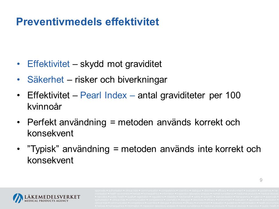 Preventivmedels effektivitet