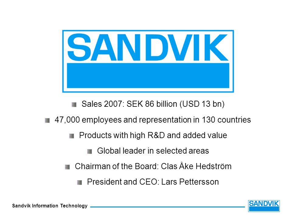 Sales 2007: SEK 86 billion (USD 13 bn)