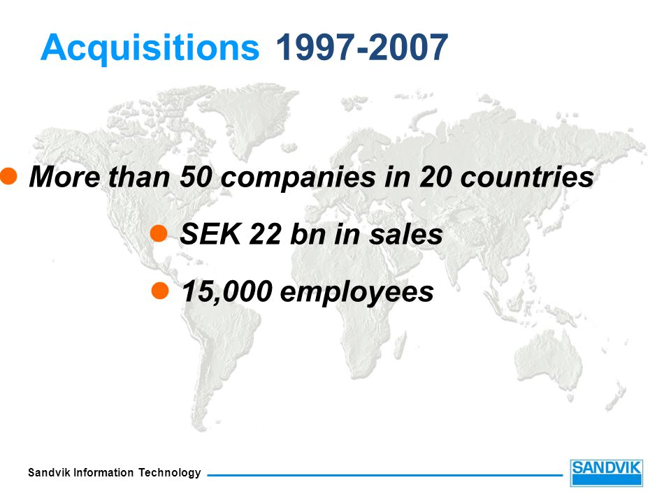 More than 50 companies in 20 countries
