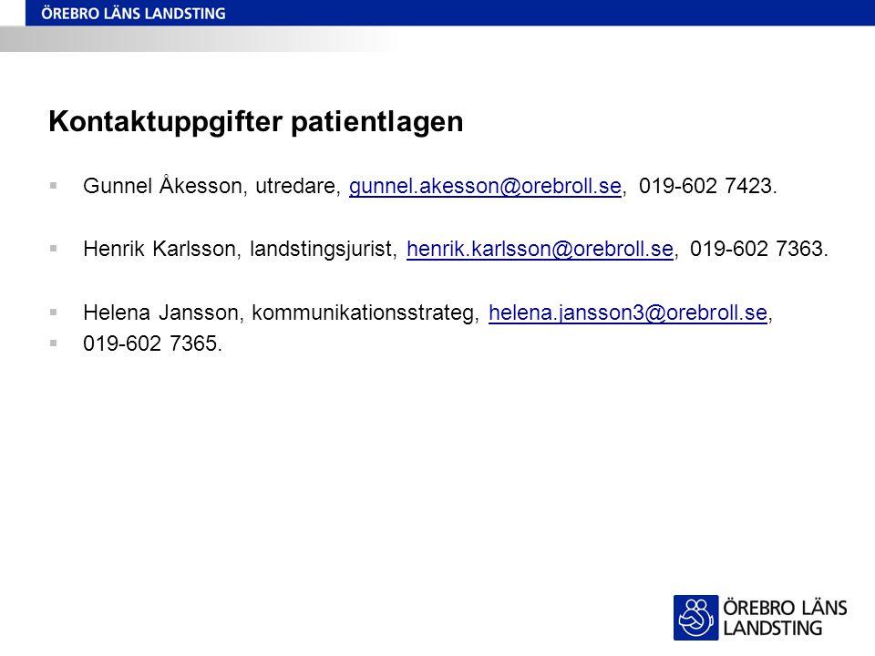 Kontaktuppgifter patientlagen