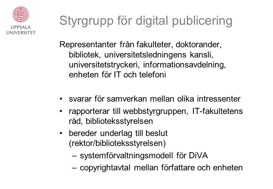 Styrgrupp för digital publicering