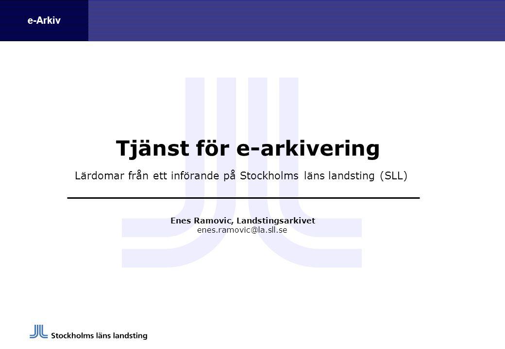 Tjänst för e-arkivering