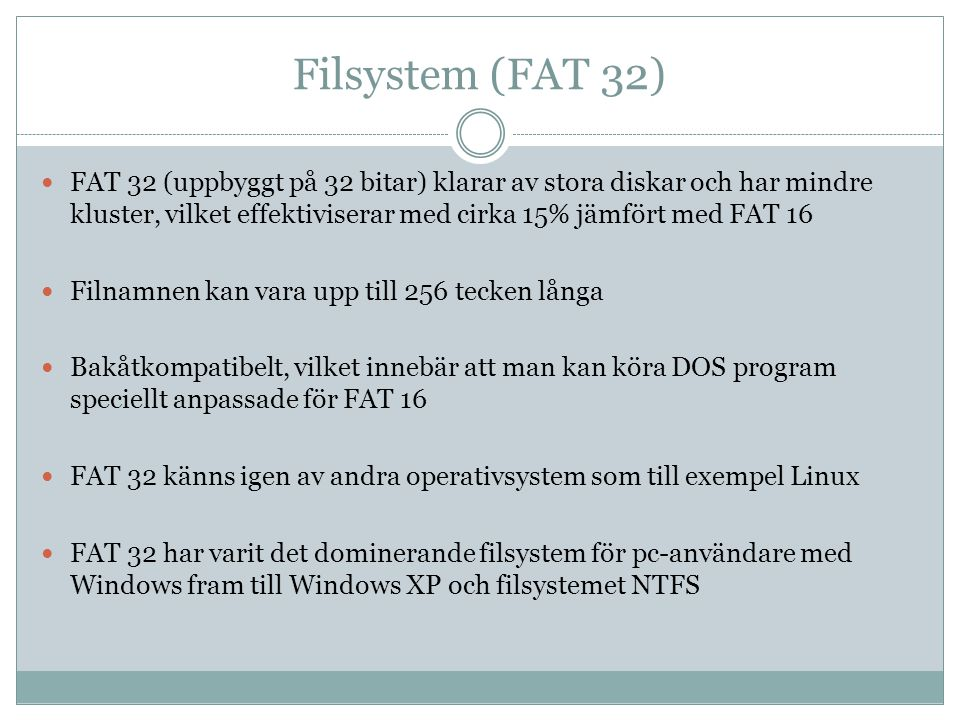 Filsystem (FAT 32)
