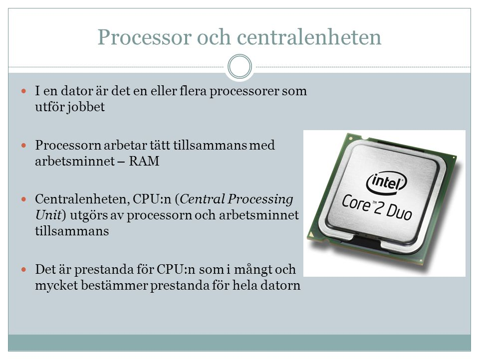 Processor och centralenheten