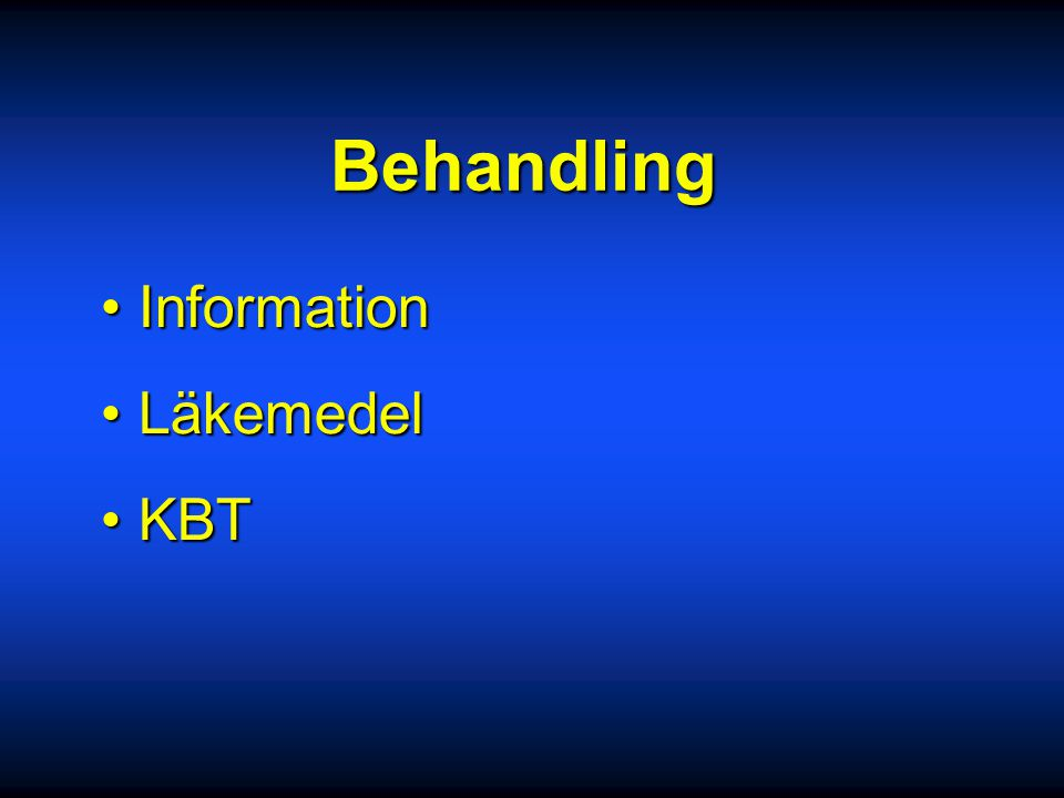 Behandling Information Läkemedel KBT