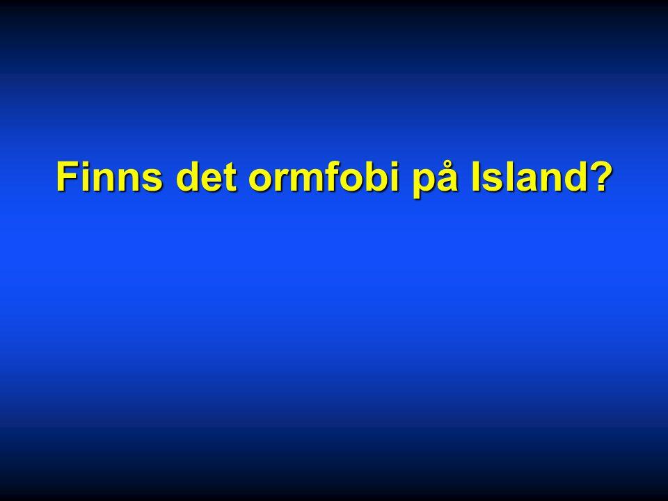 Finns det ormfobi på Island