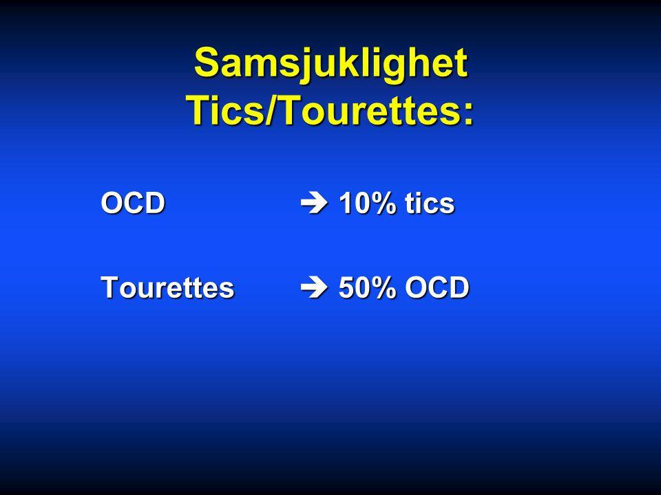 Samsjuklighet Tics/Tourettes: