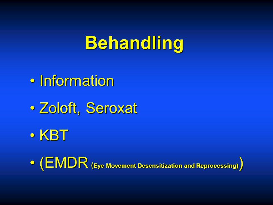 Behandling Information Zoloft, Seroxat KBT