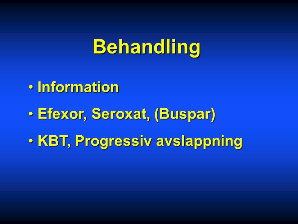 Behandling Information Efexor, Seroxat, (Buspar)