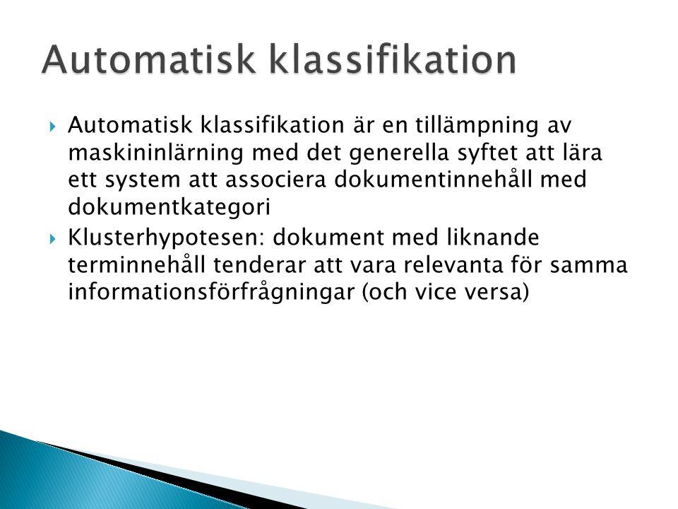 Automatisk klassifikation