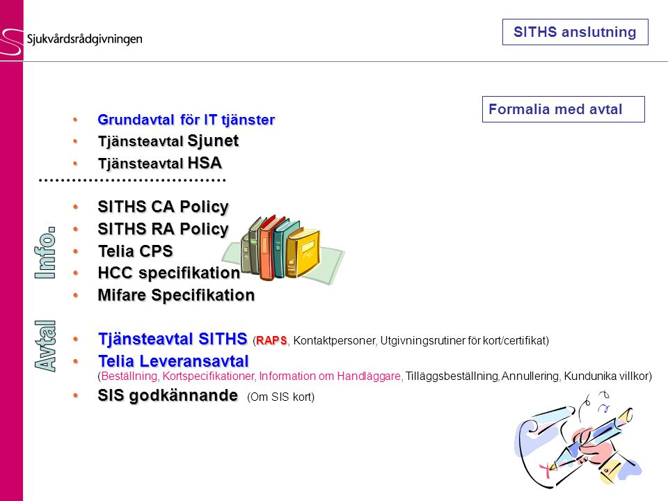 Info. Avtal SITHS CA Policy SITHS RA Policy Telia CPS