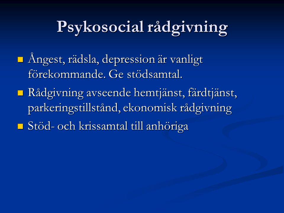 Psykosocial rådgivning