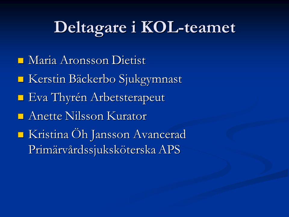 Deltagare i KOL-teamet