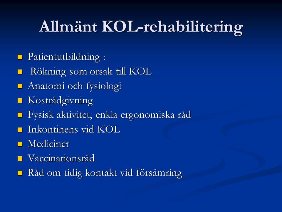 Allmänt KOL-rehabilitering