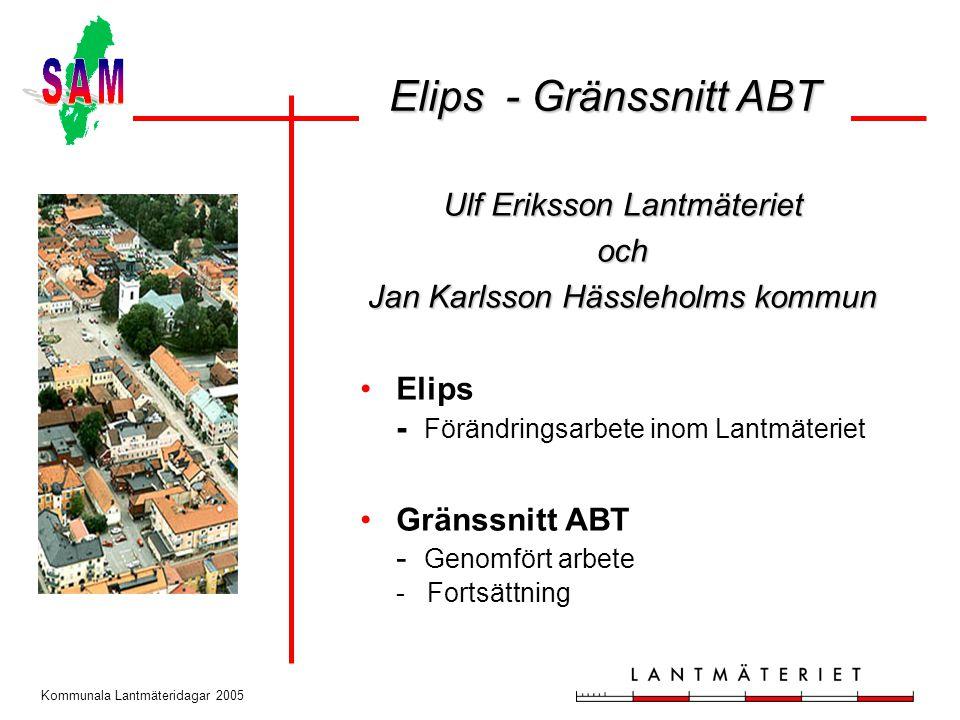 Elips - Gränssnitt ABT Ulf Eriksson Lantmäteriet och