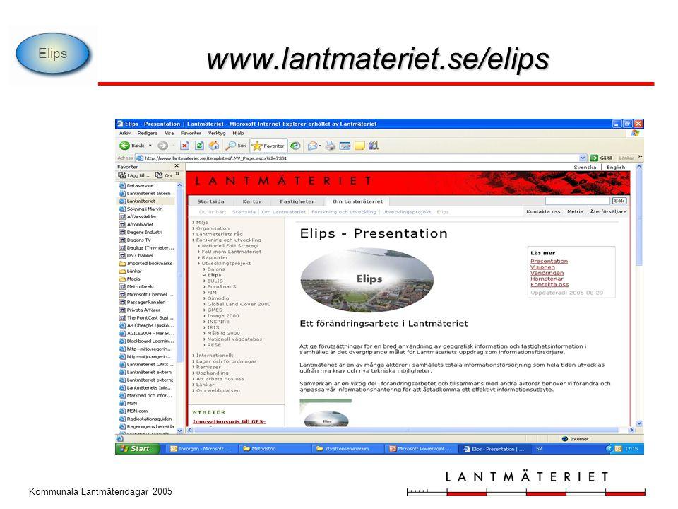 Elips www.lantmateriet.se/elips