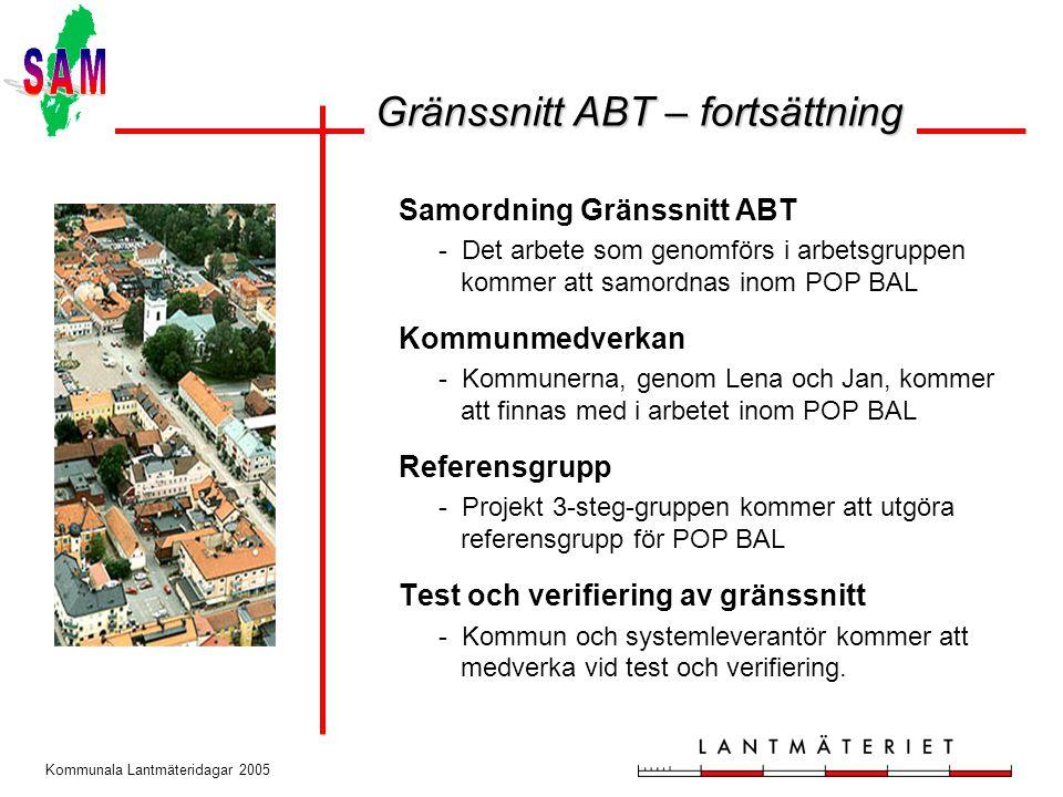 Gränssnitt ABT – fortsättning