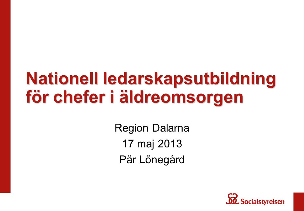 Nationell ledarskapsutbildning för chefer i äldreomsorgen