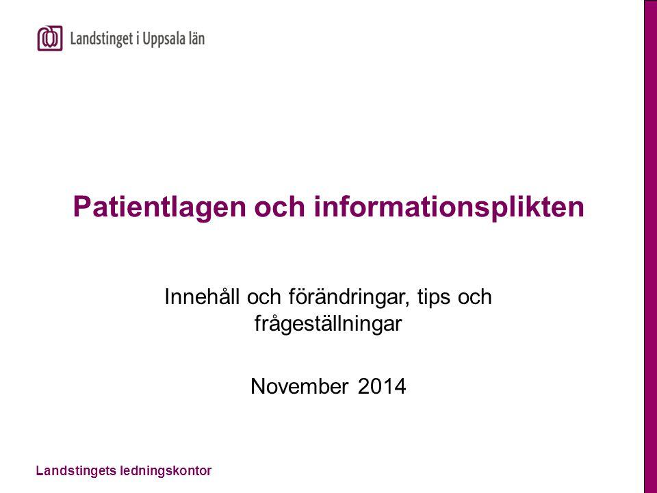 Patientlagen och informationsplikten