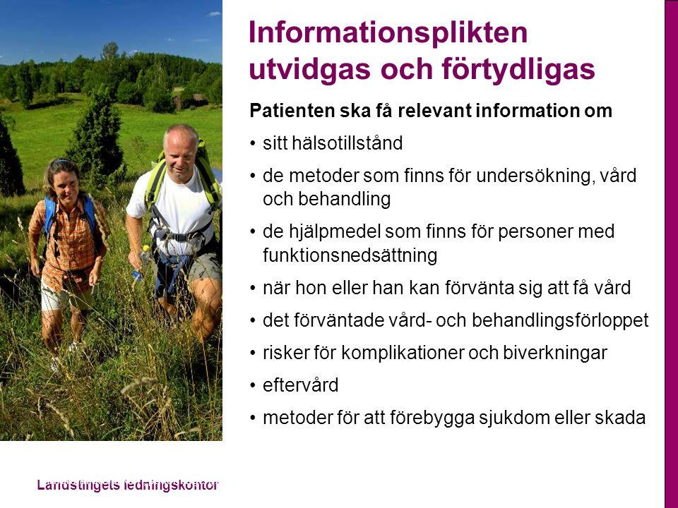 Informationsplikten utvidgas och förtydligas