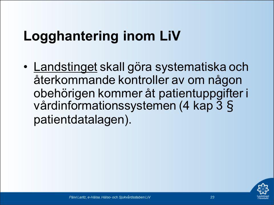 Logghantering inom LiV