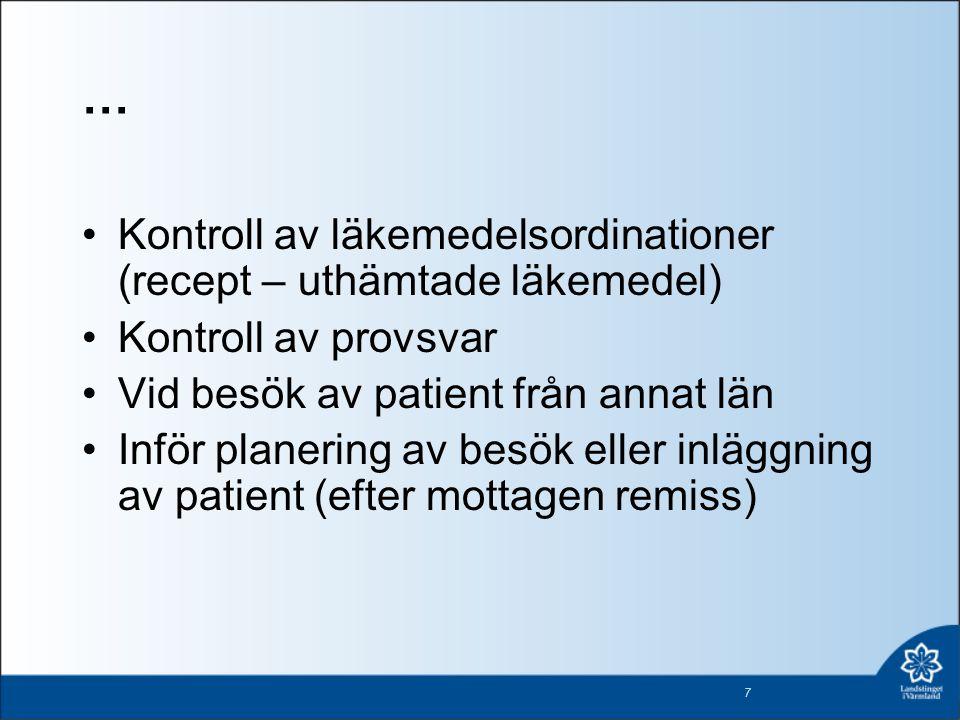 … Kontroll av läkemedelsordinationer (recept – uthämtade läkemedel)