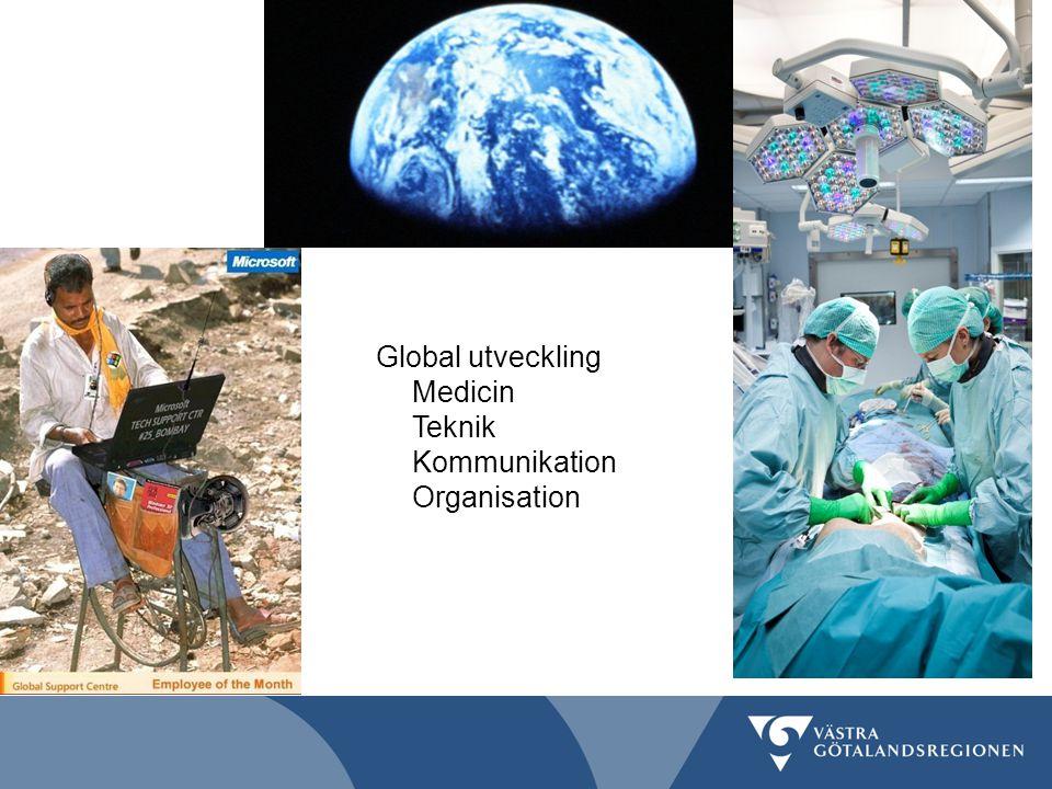 Global utveckling Medicin Teknik Kommunikation Organisation