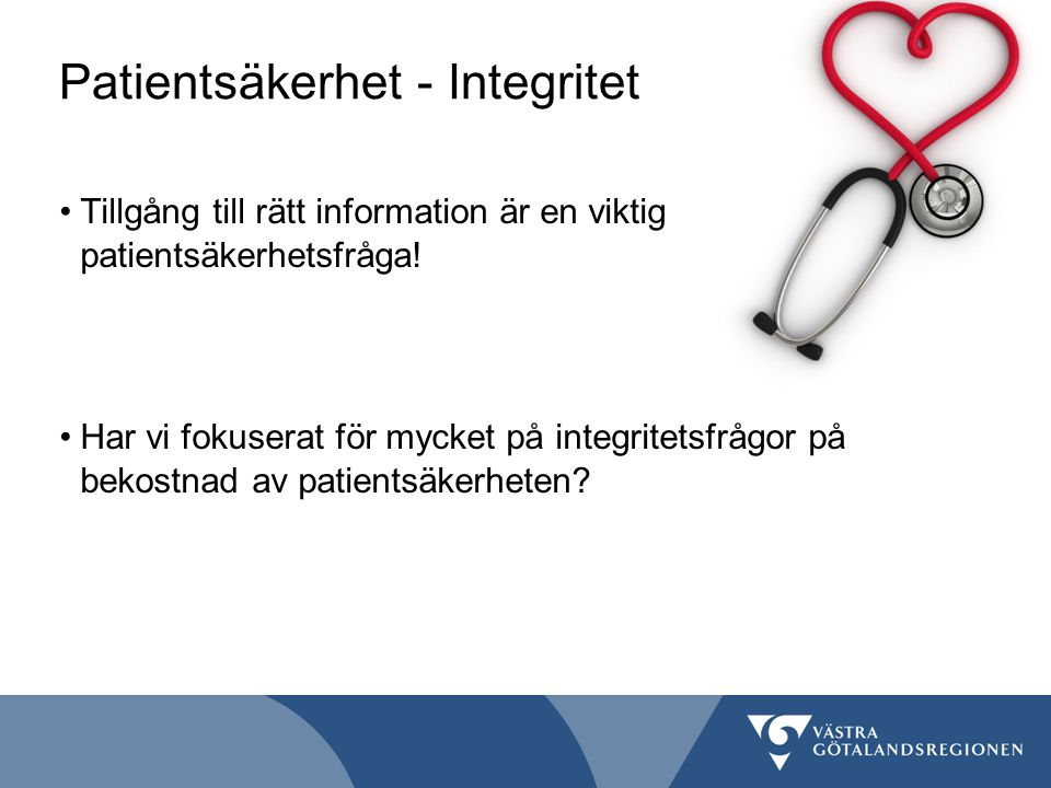 Patientsäkerhet - Integritet