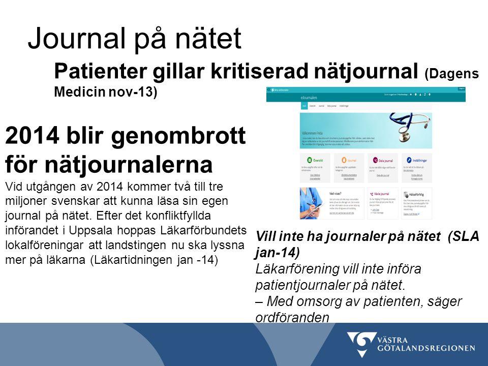 Journal på nätet 2014 blir genombrott för nätjournalerna