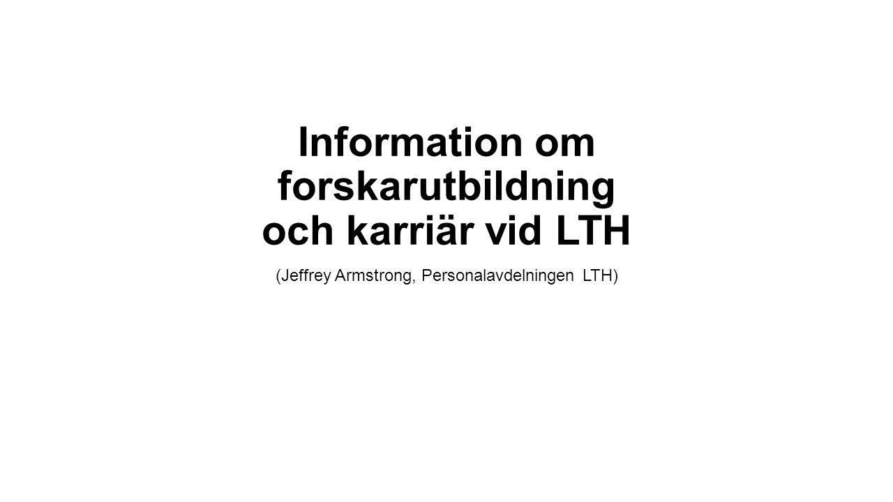 Information om forskarutbildning och karriär vid LTH