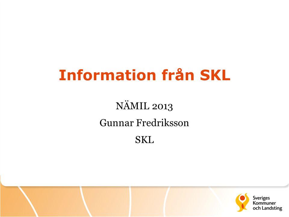 NÄMIL 2013 Gunnar Fredriksson SKL