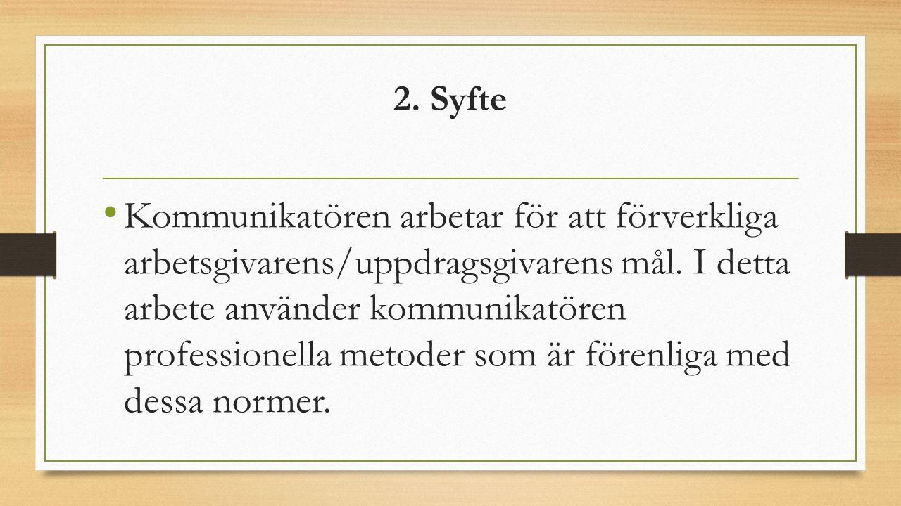 2. Syfte
