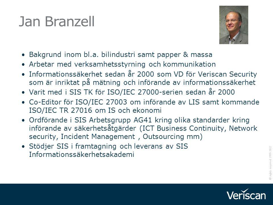 Jan Branzell Bakgrund inom bl.a. bilindustri samt papper & massa