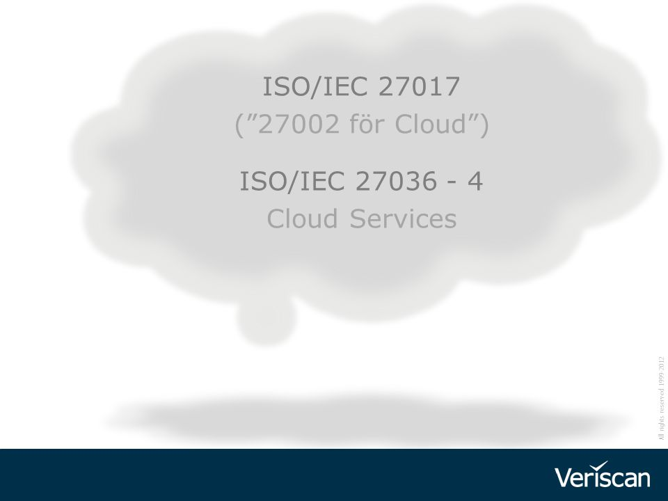 ISO/IEC 27036 - 4 Cloud Services