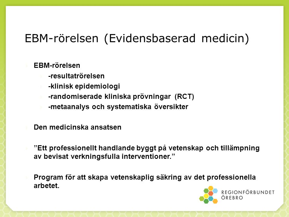 EBM-rörelsen (Evidensbaserad medicin)