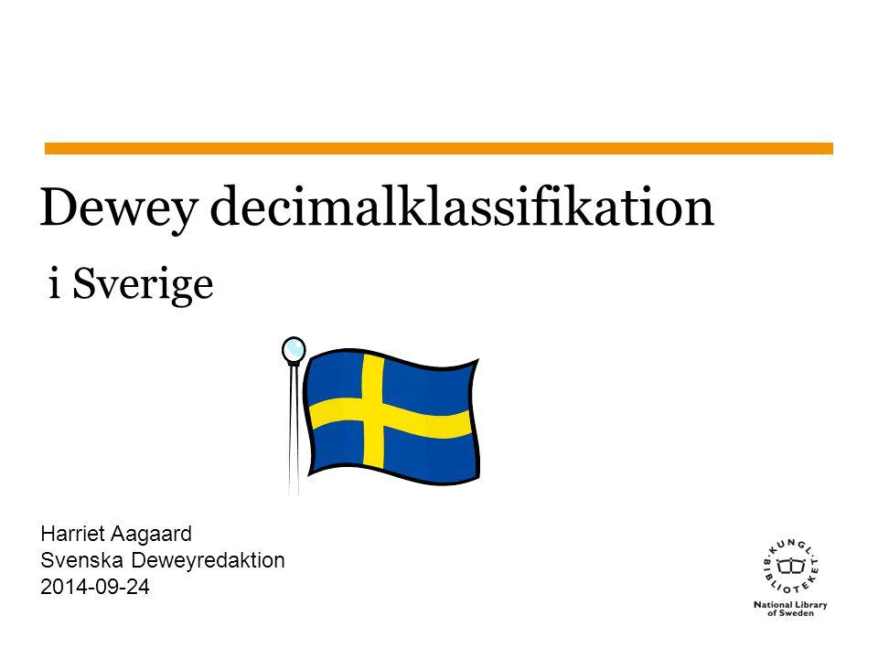 Dewey decimalklassifikation i Sverige