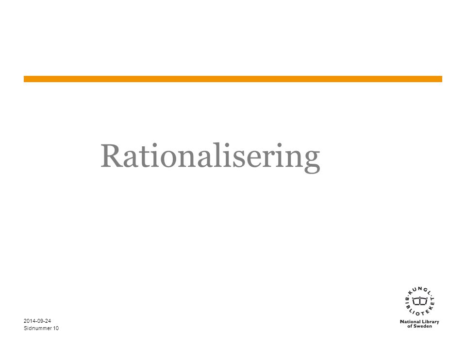 Rationalisering