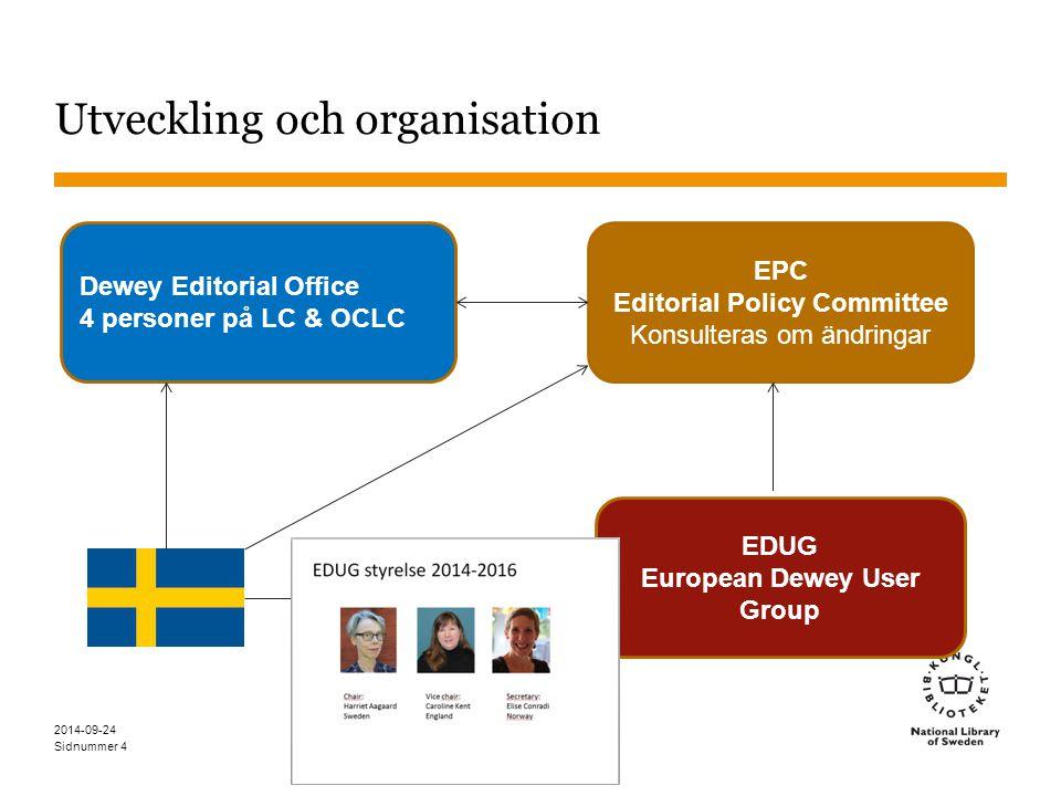 Utveckling och organisation