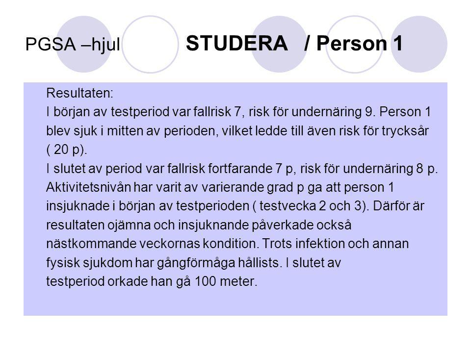 PGSA –hjul STUDERA / Person 1