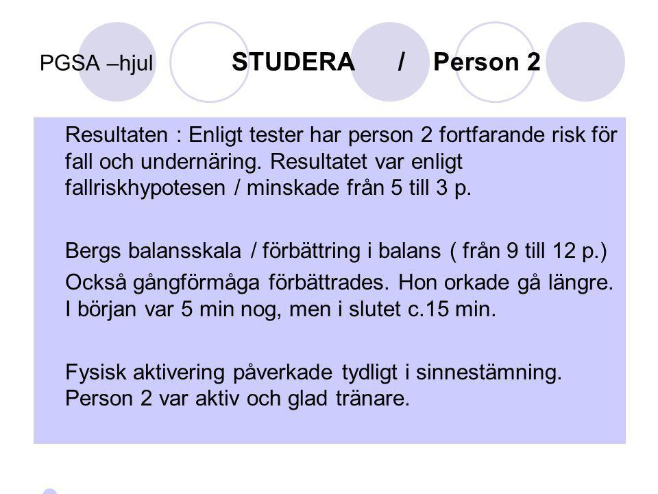 PGSA –hjul STUDERA / Person 2