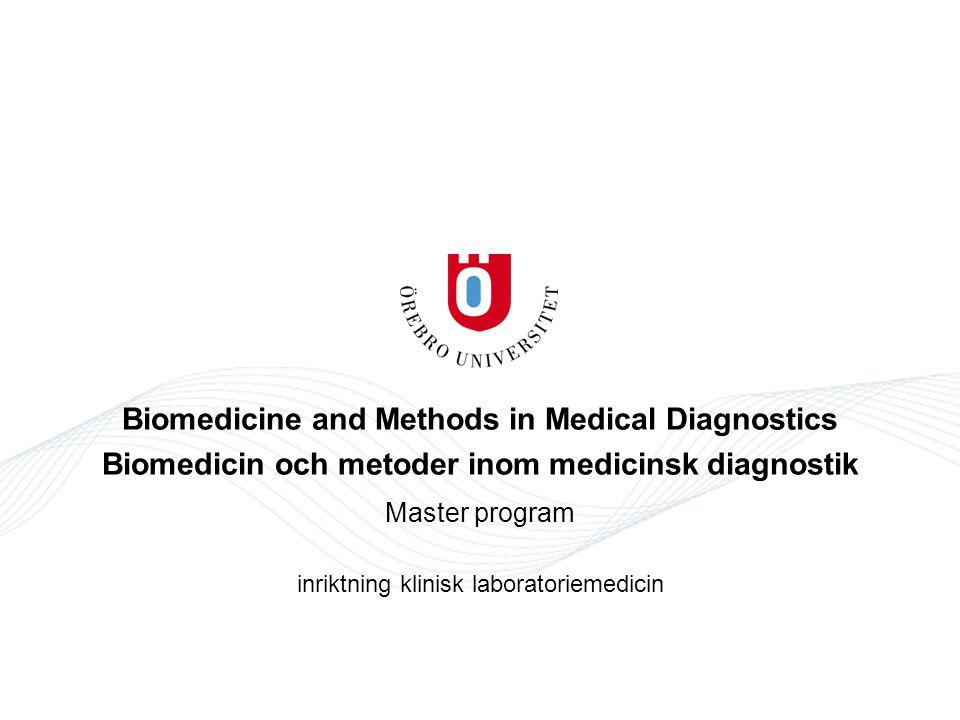 Master program inriktning klinisk laboratoriemedicin