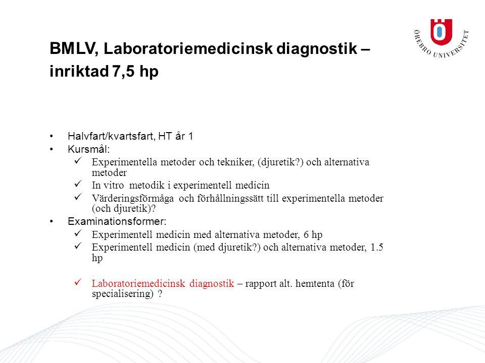 BMLV, Laboratoriemedicinsk diagnostik – inriktad 7,5 hp